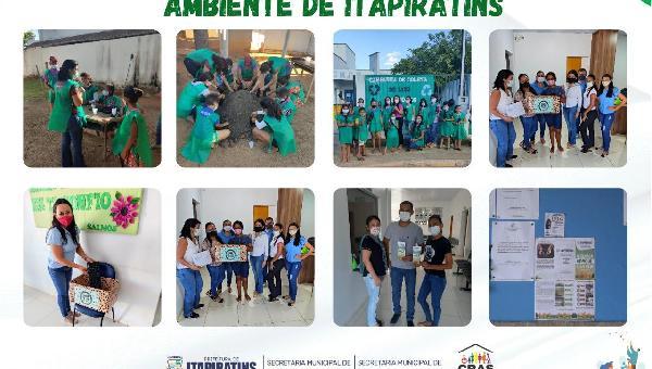 PREFEITURA MUNICIPAL DE ITAPIRATINS CELEBRA  A SEMANA MUNICIPAL DE MEIO AMBIENTE.