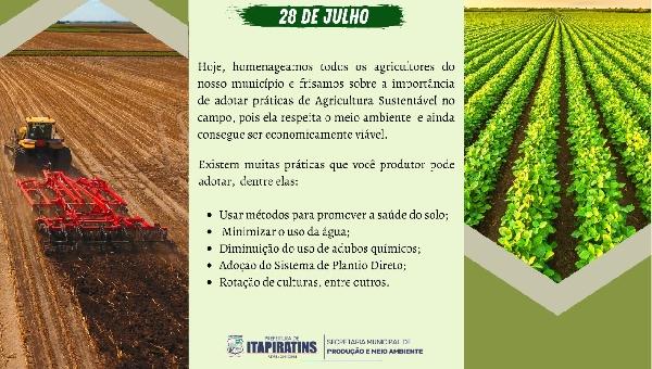 Prefeitura Municipal de Itapiratins Comemora o dia do Agricultor